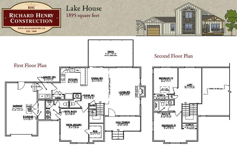Lake naomi house and lot package new home builder for History maker homes floor plans